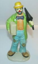Emmett Kelly Jr. Hobo Clown with Umbrella & Suitcase Figurine Flambro