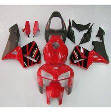 Black Red Plastic Fairing Bodywork For Honda CBR600RR CBR 600 RR F5 2005 06 New