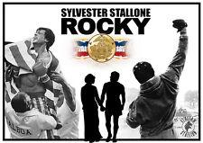 Rocky Balboa Saga - Poster - Stallone - Wandbild - DIN A1 - 59,4 cm x 84,1 cm