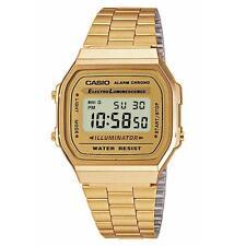 Unisex Armbanduhren mit Edelstahl-Armband Gelbgold