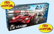 SLOT CAR SET SCALEXTRIC 24 HOURS OF LE MANS. FREE SHIPPING