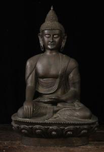 """Siam Antique Bronze Gautama Buddha Large Statue 35"""" from Thailand"""