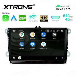 """9"""" Android 10.0 Car Stereo GPS Radio DSP WiFi 4K Video for VW Golf Seat Skoda"""