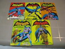 Lot BD Batman et Robin 48/53/54/55/58 Interpresse french comics interpresse,1976