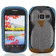 For Samsung Galaxy Centura S738C Crystal Diamond BLING Case Phone Cover Penguin