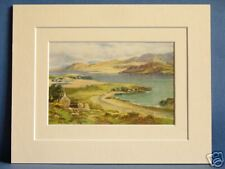 MULROY BAY DONEGAL ULSTER IRELAND RARE VINTAGE DOUBLE MOUNTED PRINT c1920 10X8