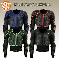 MENS MOTORBIKE MOTORCYCLE MOTOCROSS FULL BODY ARMOUR PROTECTION SPINE PROTECTOR