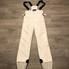 Fera Womens White Nylon Ski Bibs Pants Size 30