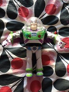 "Buzz Lightyear Toy Story 12"" Figure Blue Anti Gravity Utility Belt Lights Sounds"