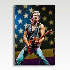"""Bruce Springsteen Born in the USA to Run Canvas Print Poster Wall Art 30"""" x 20"""""""