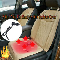 3 In1  Car & Office Seat Cover Cushion Mat Cooling Warm Heated Massage Pad Beige