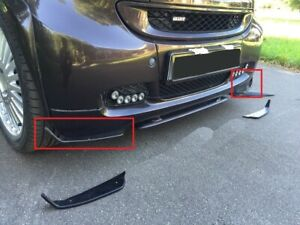 Two front spoilers for bumper protection fits Smart Fortwo all and brabus)