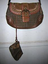 Coach Signature Handbag PLUS Wristlet Boho Studded&Stitched  F-11517 VGUC