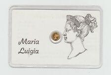 Tessera + Medaglia Placcata Oro Maria Luigia Granduchessa di Parma [xo118]