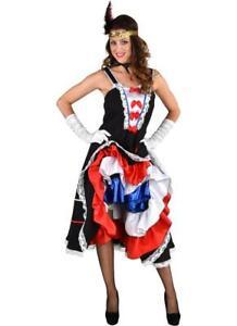 Saloonlady Cancan Kostüm Kleid Burleske Saloon Lady Saloongirl Burlesque Can Can