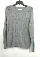 Elodie Womens Long Sleeves Crewneck Cable Ribbed Knit Pullover Sweater NWT