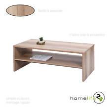 Table basse traditionnelle sonoma chêne avec compartiment de rangement