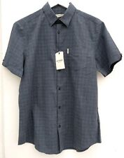 Ben Sherman Grey Check Shirt.100%Cotton. Short sleeve. Large. New with tags