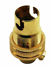 """BC B15 Light Bulb Lamp holder 1/2"""", Earthed in Polished Brass Unswitched (A96)"""