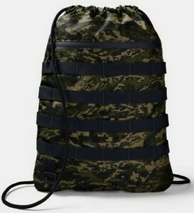 Under Armour UA Sportstyle Sackpack Union Lifestyle Drawstring Backpack, Green