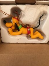 Disney Grolier Pluto Christmas Decoration Ornament With Box