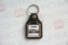 Ford Fiesta Mk2 XR2 Keyring - Leatherette & Chrome classic retro car keyfob
