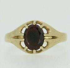 9ct Yellow Gold Garnet Ring Size T