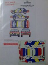 "PEUGEOT 505 TURBO DIESEL RALLYE MONTE CARLO 1982 CLAUDE LAURENT ""ESSO"" DECALS"