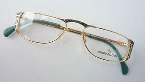 R. Balestra Schmuckbrille Nahbrille elegante Lesebrillenfassung grün gold Gr. M