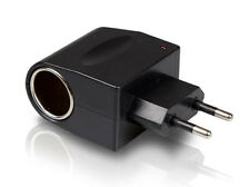 ADAPTADOR DE 12V A 220V 1A MECHERO A ENCHUFE RED TRANSFORMADOR CONVERTIDOR CARGA