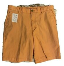 IZOD Saltwater Mens Relaxed Classic Stretch Washed Chino Shorts Size 32 NEW!