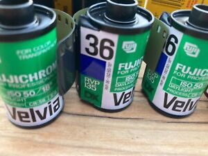 Fuji Velvia 50 Kodak E100SW more 12  rolls total classic E-6 Slide Film Frozen