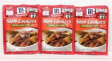 McCormick Slow Cookers Hearty Beef Stew Seasoning Mix 1.5  oz  (3 Pack)