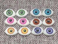 20pcs(10pairs) Mixed Color Acrylic Oval Doll Eyes Eyeballs 12X16mm Troll Eye