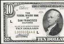 1929 $10 FRBN  ❀❀ SAN FRANCISCO ❀❀  HIGH GRADE    BRIGHT&CRISP