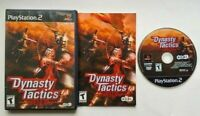 Dynasty Tactics PlayStation 2 PS2 Complete Game Tested Works