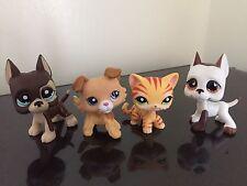 4x Littlest Pet Shop LPS Great Dane #817-2 #750 Collie #2452 Cat #1451 Cute Set