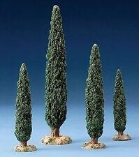 "FONTANINI NATIVITY - 5"" SCALE - CYPRESS TREES - SET OF FOUR"