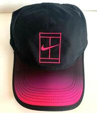 NEW! Nike Featherlight Court Tennis Hat-Black/Pink/Purple 864099-013