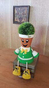 Flower pot people. Handmade flower pot boys, girls. Home decoration, garden