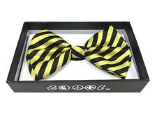 Yellow Zebra Pattern Men Women Bowtie  Clip-On Neck-wear Tuxedo