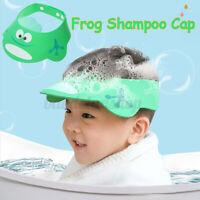 Adjustable Kids Baby Shampoo Cap Bath Bathing Caps Shower Hat Wash Hair Shield U