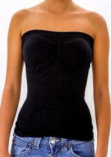 Padded Strapless Top Tube Bandeau Bra Ruched Seamless Base Layering