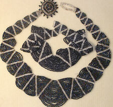 Experienced  BEADING KIT - Wave Collar  - Iris Finish & Silver