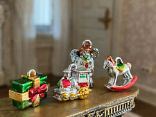Vintage Miniature Dollhouse Collection Retro Christmas Tree Ornaments LAST SET