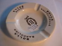 Vintage Wine Company Porcelain Ashtray USA Soave Bolla Bardolino
