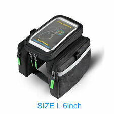 ROCKBROS Bicycle Frame Bag Pannier Touch Screen Phone Bag 6.0 Inch Black