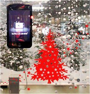 45 / 92cm Christmas Tree Star Waterproof Shop Window Sticker Wall Art Decal