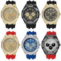 53mm Milano Expressions Men's Luxury Rapper Simulate Diamond Clubbing Watch