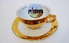 Tirschenreuth Bavaria Coffee Cup & Saucer *Buckingham Palace London* - Gold Trim